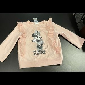 Pink 24 month Minnie Mouse Sweatshirt